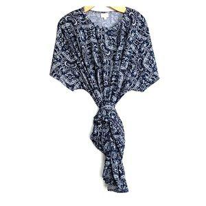 LULAROE • Maxi Plus Size Grey Paisley Dress